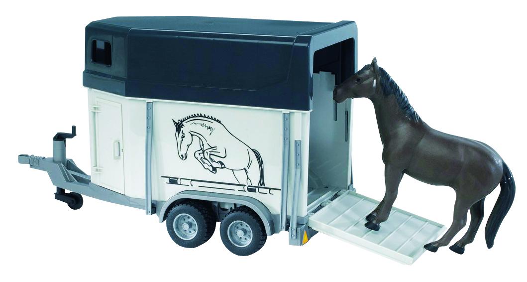 Remorque à chevaux + 1 cheval 1:16 – Lacavernedevance